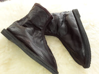 Possum Fur Pull-on Leather Boots