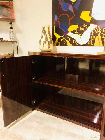 High gloss CEO desk met kast