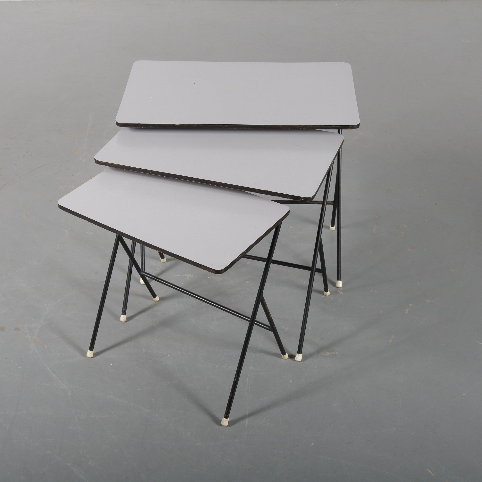 Tweedehands design 1950s Nesting tables by Tjerk Reijenga for Pilastro, the Netherlands