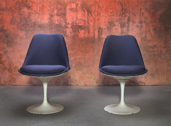 Tweedehands design 2 Knoll tulip chair Saarinen