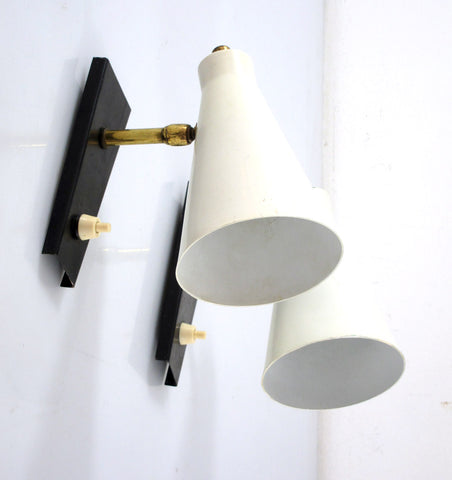 2 STILNOVO STYLE FIFTIES VINTAGE WALL LAMPS