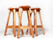 Tweedehands design 3 Rainer Daumiller Wooden Bar Stools