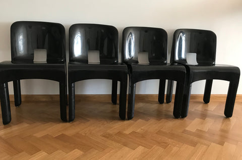 4x Joe Colombo Kartell  Stoelen