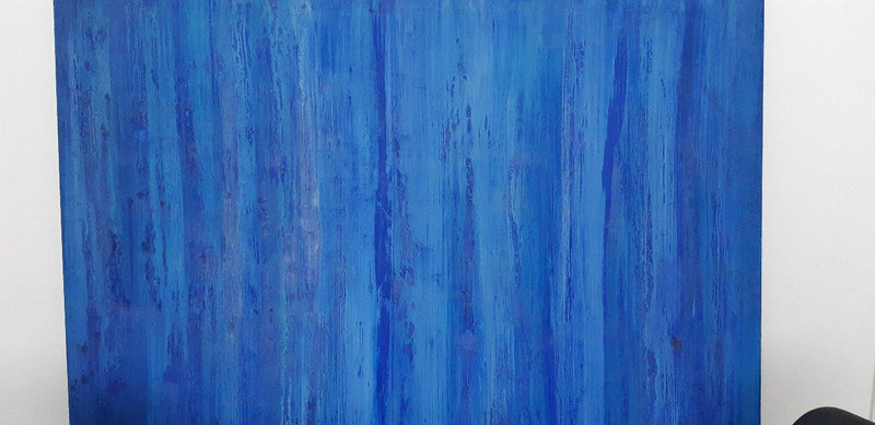 blauw canvas Christian Verkaemer