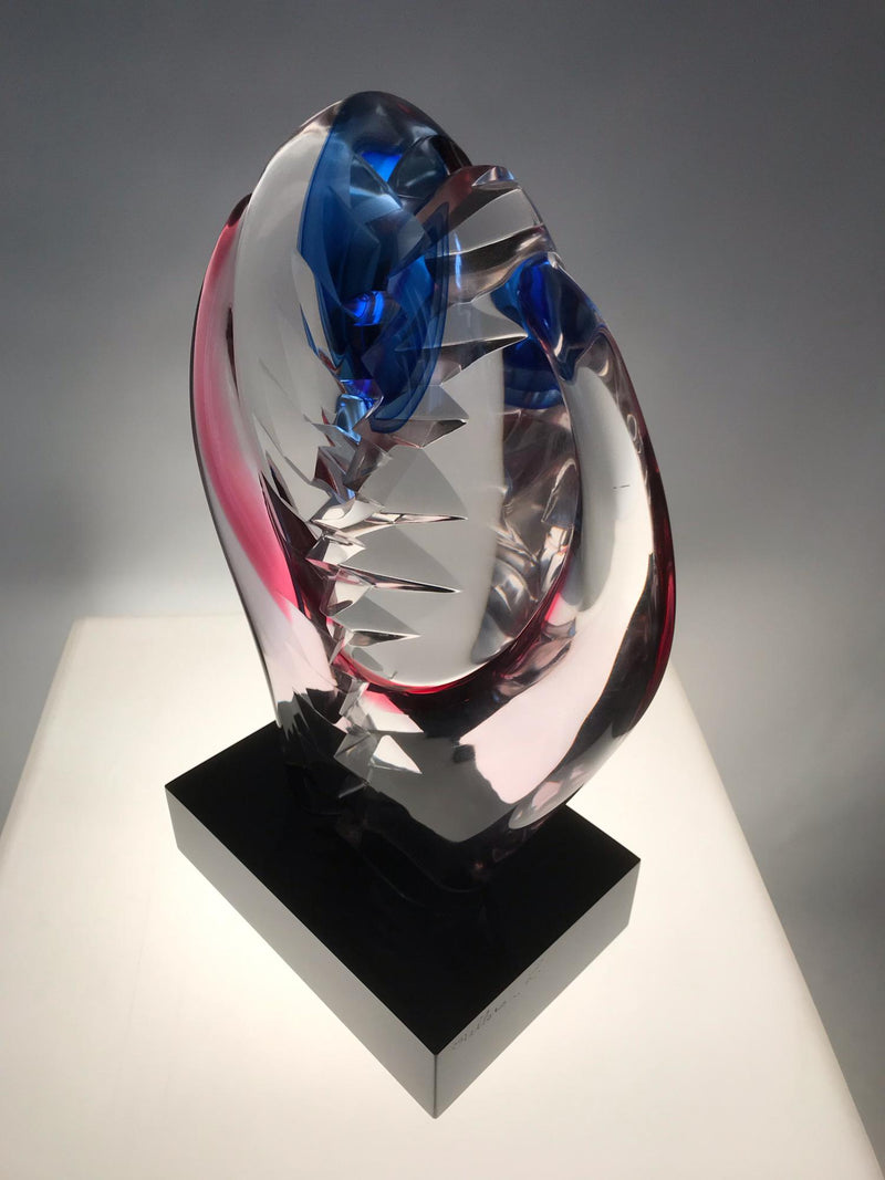Abstract glassculptuur