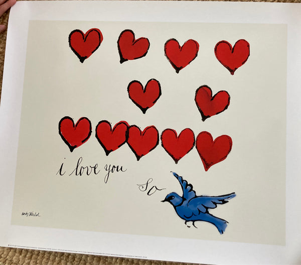 "Tweedehands design Andy Warhol ""I Love You So, c. 1958"