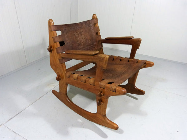 Tweedehands design Angel Pazmino Rocking Chair 1960's