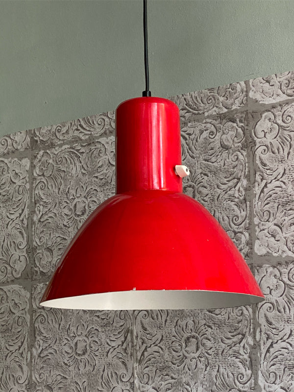 Tweedehands design Anvia emaille hanglamp
