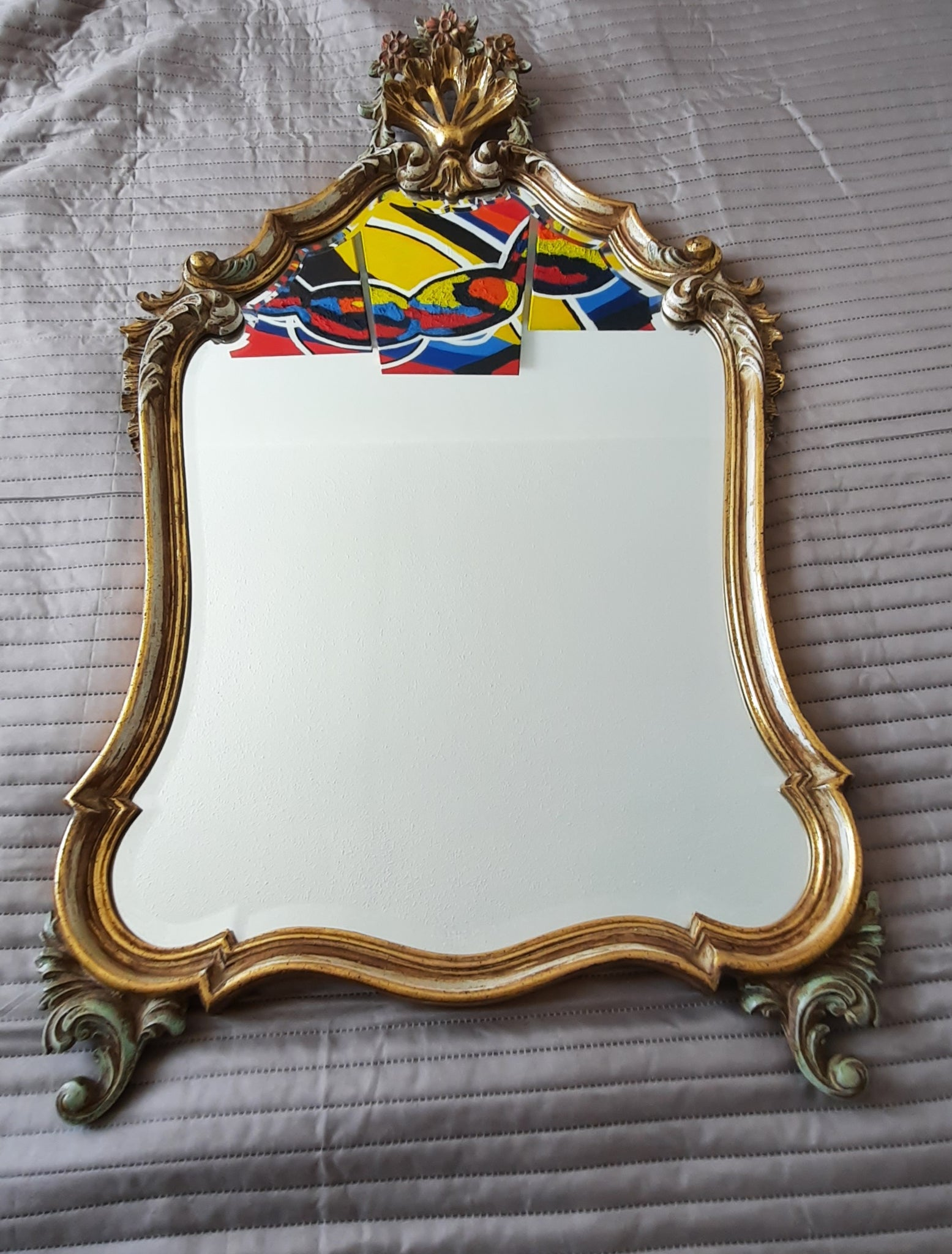 Tweedehands design Beautiful Antique Barok Mirror set
