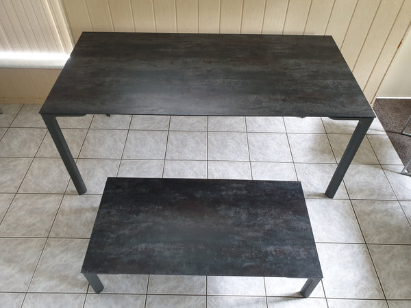 Tweedehands design Bert Plantagie Edge eettafel en salontafel set