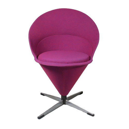 Verner Panton Cone chair with stool