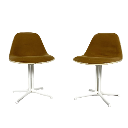 2 Charles & Ray Eames for Herman Miller dining chairs La Fonda