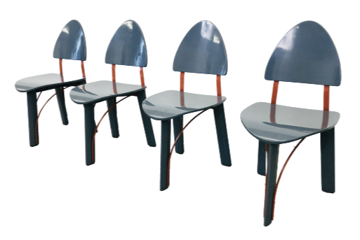 4x Pozzi memphis style dining chairs
