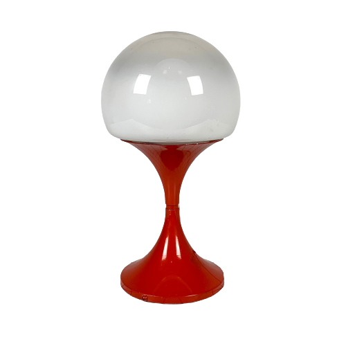 Italian White Glass Table Lamp