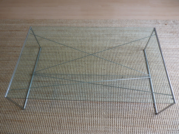 Tweedehands design Design Salontafel glas