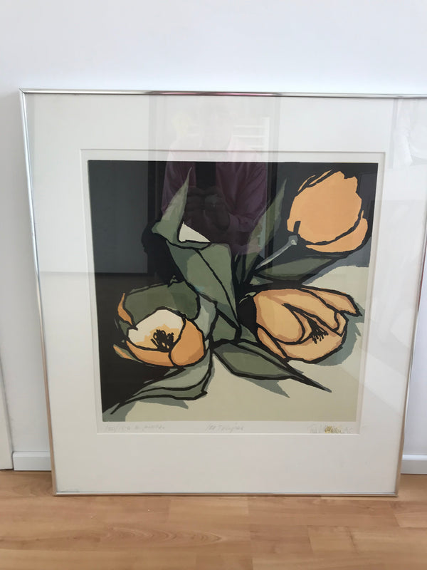 Tweedehands design Fon Klement Litho. 'Les Tulips'