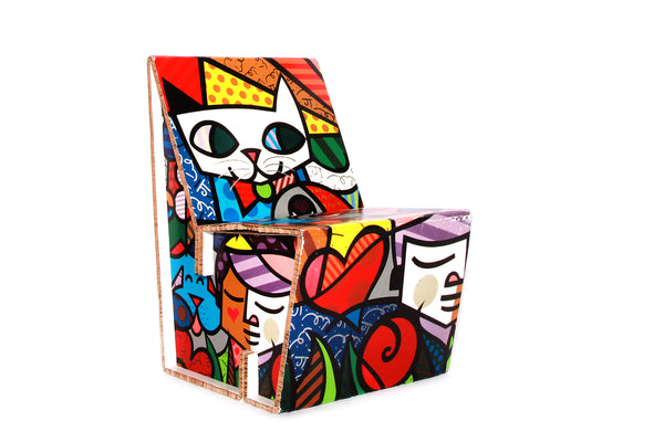 Tweedehands design Funky Pop Art Cardboard Lounge Chair