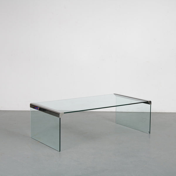 Tweedehands design Gallotti & Radice designed by Pierangelo Gallotti, glass coffee table, Italy 1970s