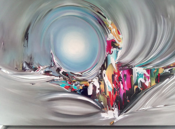 Tweedehands design Gena Abstract gravity 3D, schilderij