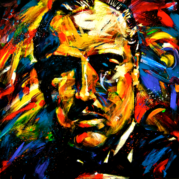 "Tweedehands design Giclee op canvas van ""The Godfather"""