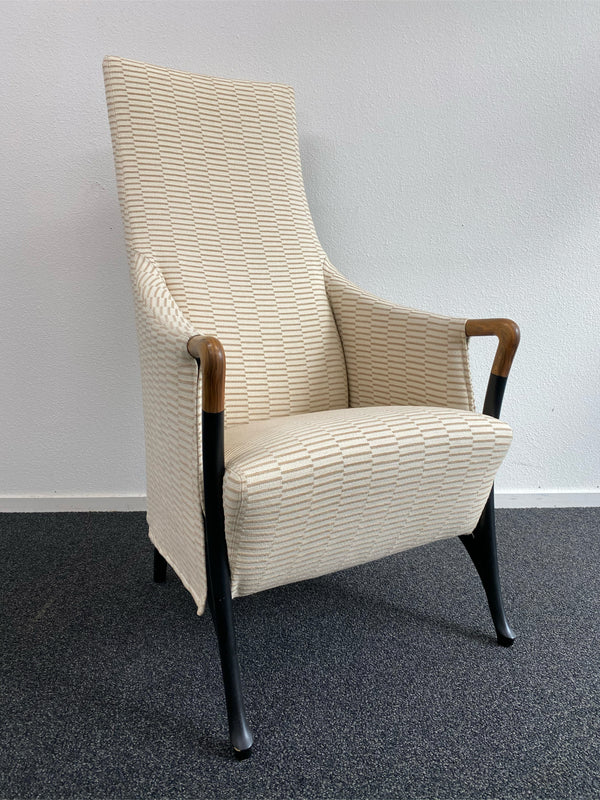 Tweedehands design Giorgetti Progetti lounge chair 80s long back