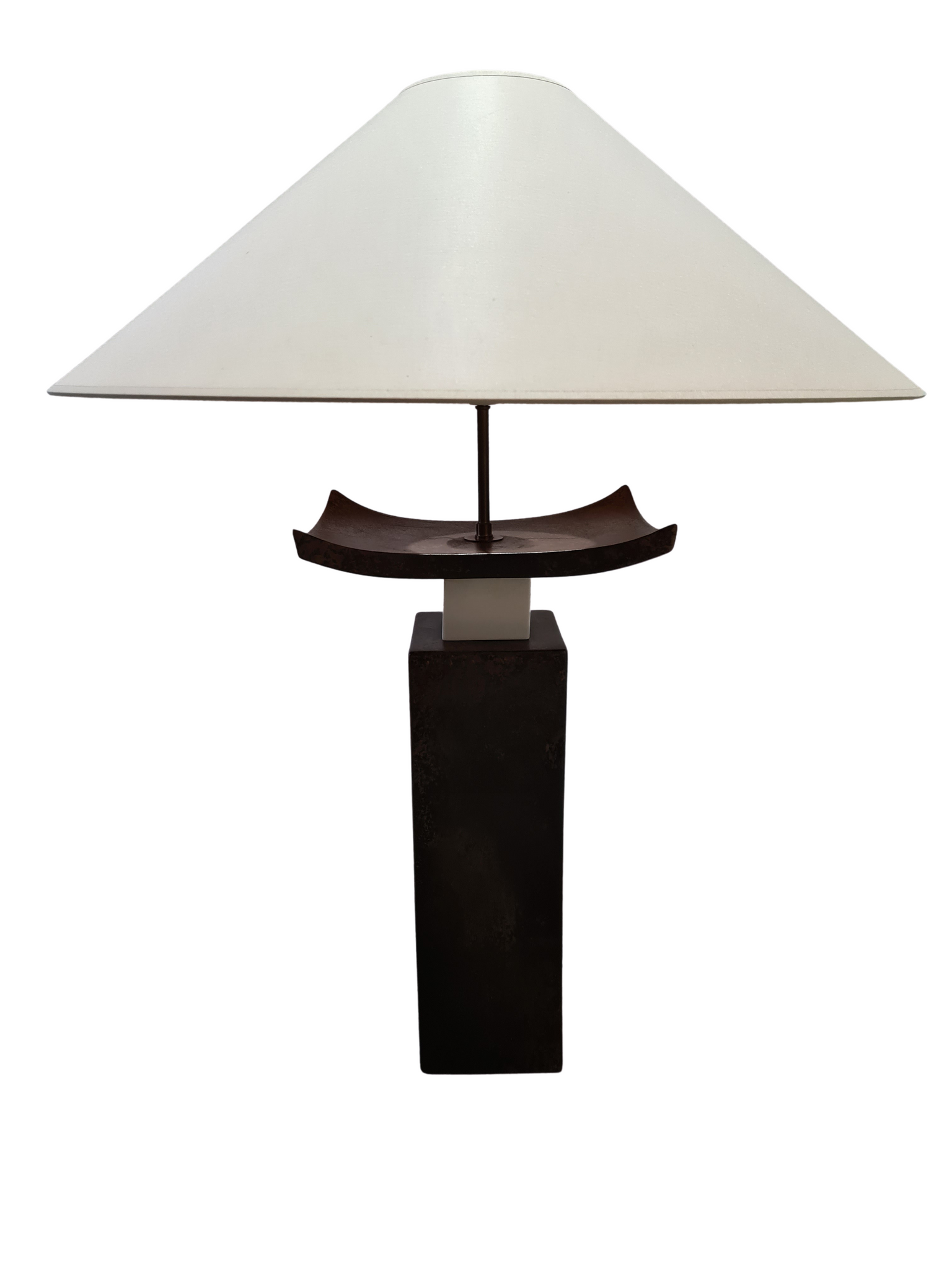 Tweedehands design Grote Francois Chatain keramiek lamp model Chinese Tempel, jaren 70