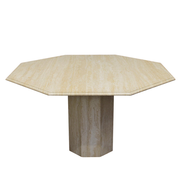 Tweedehands design Italian travertine marble dining table 1970