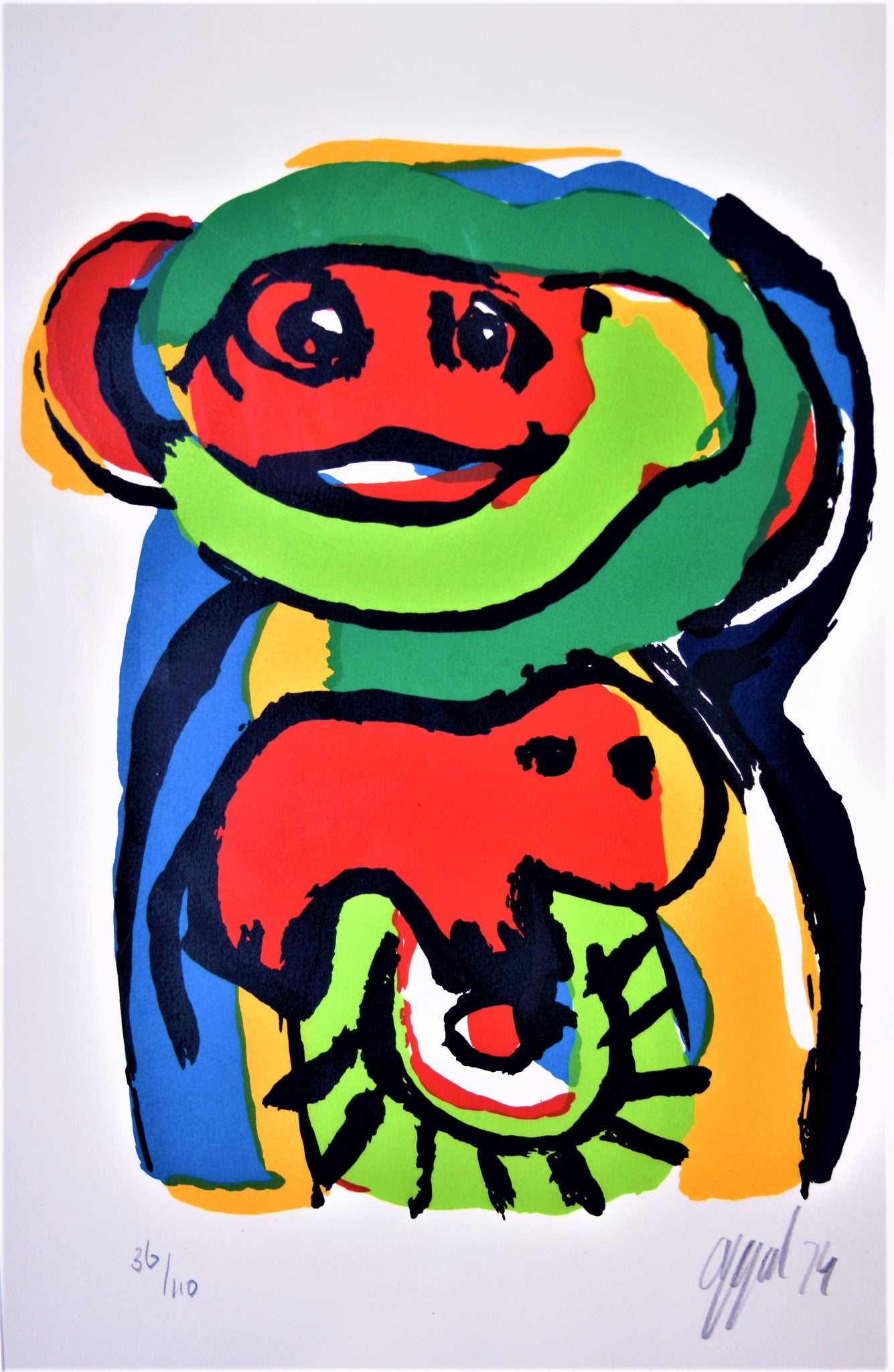 Tweedehands design Karel Appel, Silkscreen hand signed edition 36/110