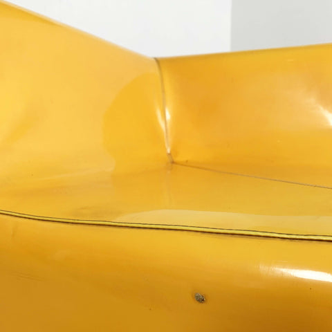 Modular Yellow Vynil Sofa, 1980s