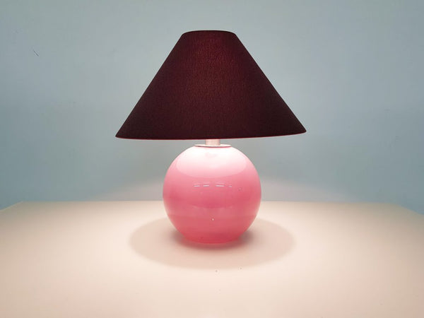 Tweedehands design Purple and pink glass table lamp Murano style