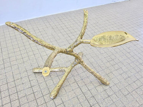 Sculptural tree design gilded bronze