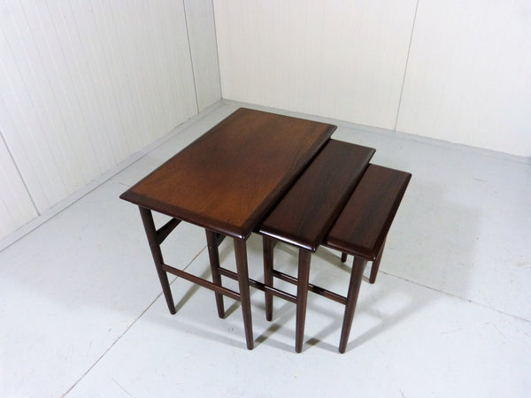 Tweedehands design Set of Dyrlund Rosewood Nesting Tables, Denmark 1960's