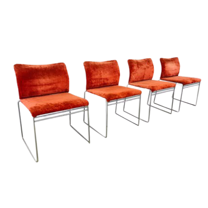 4x Simon by Cassina Jano LG chairs vintage design