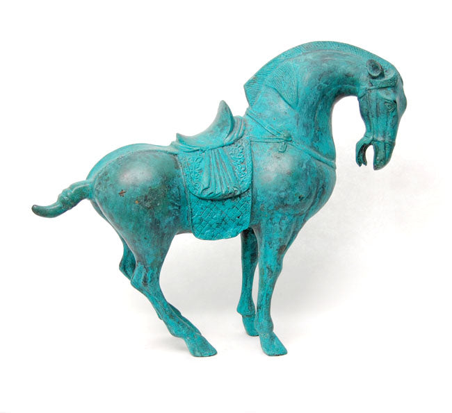 Tweedehands design Tang Dynasty style Bronze Chinese Horse Sculpture.