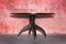 Tweedehands design Very Rare Giorgretti On Wheels Dining Table Walnut Wood Top ( rotatable ), 80s