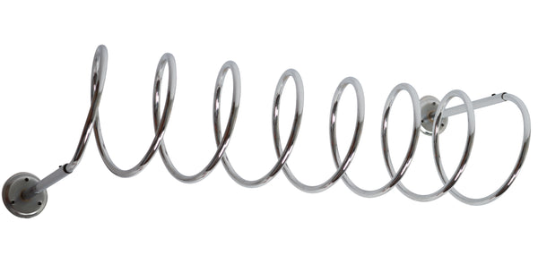 Tweedehands design Vintage Chromed spiral coat rack, extra large.