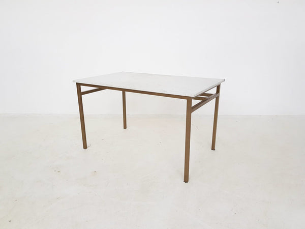Tweedehands design Vintage design metal and marble dining table or desk