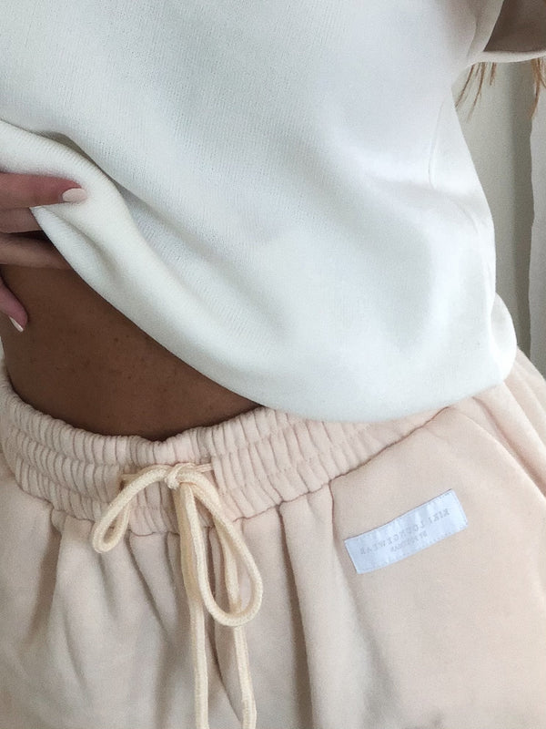 Embroidered Kiki Joggers Nude