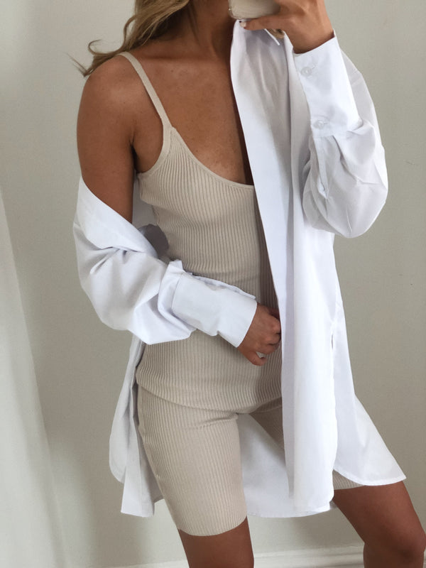 Rhi Playsuit - Stone