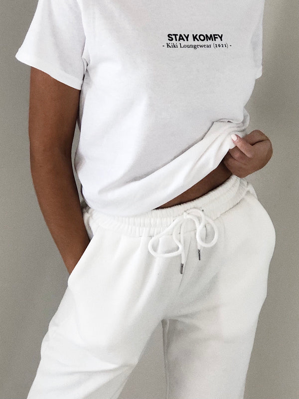 Basic Kiki Joggers White