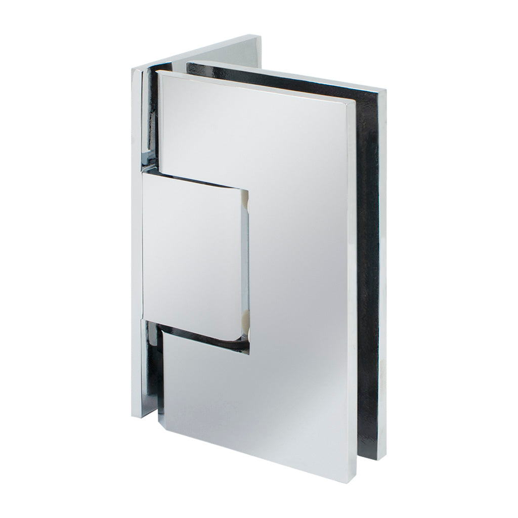 Square Hinge<br>Standard Duty<br>Wall to Glass<br>90°<br>Offset Back Plate