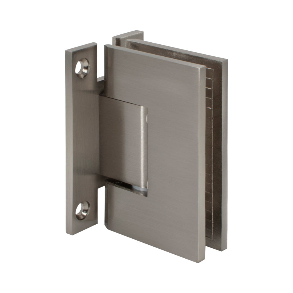 Square Hinge<br>Standard Duty<br>Adjustable<br>Wall to Glass<br>90°<br>Full Back Plate