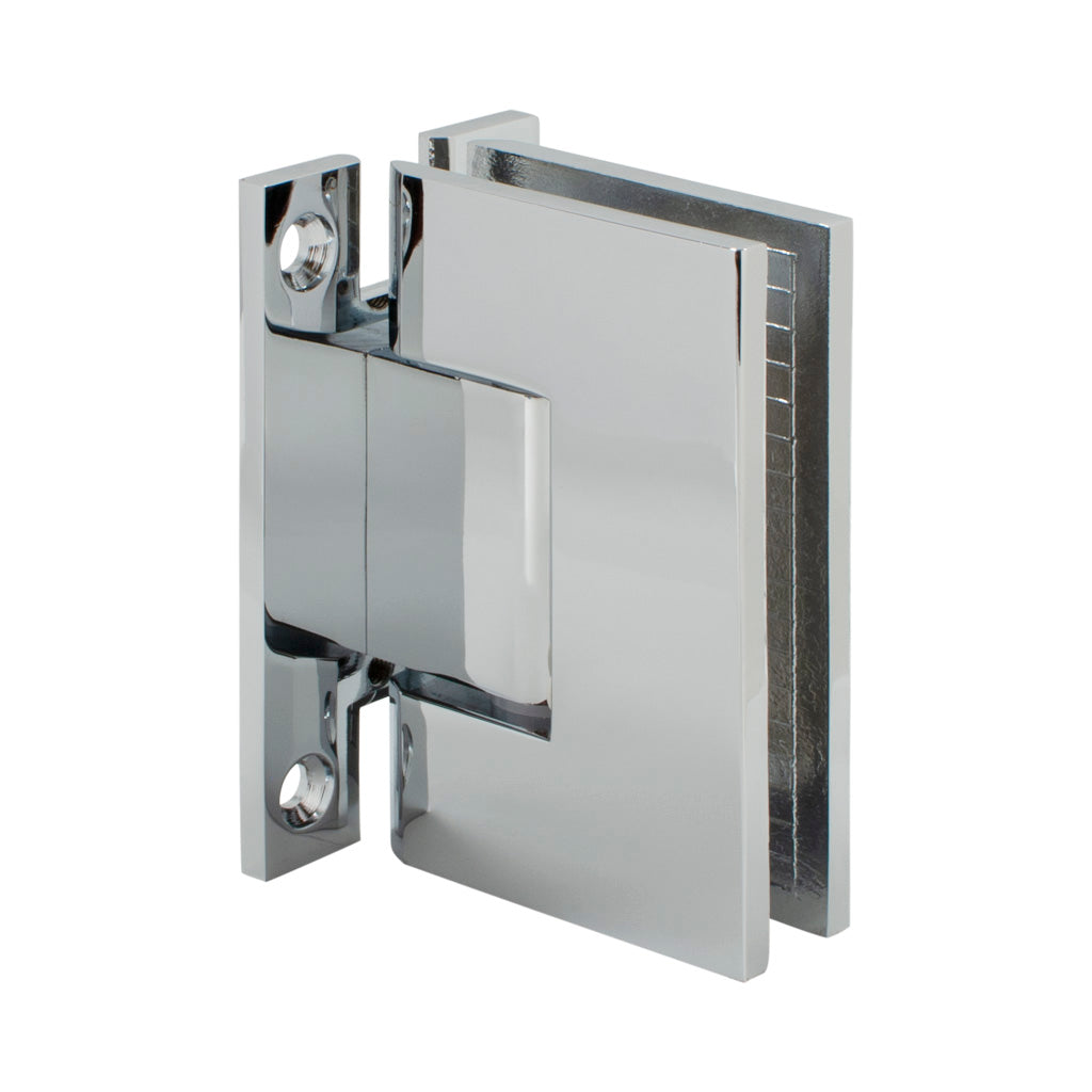 Square Hinge<br>Standard Duty<br>Wall to Glass<br>90°<br>Full Back Plate