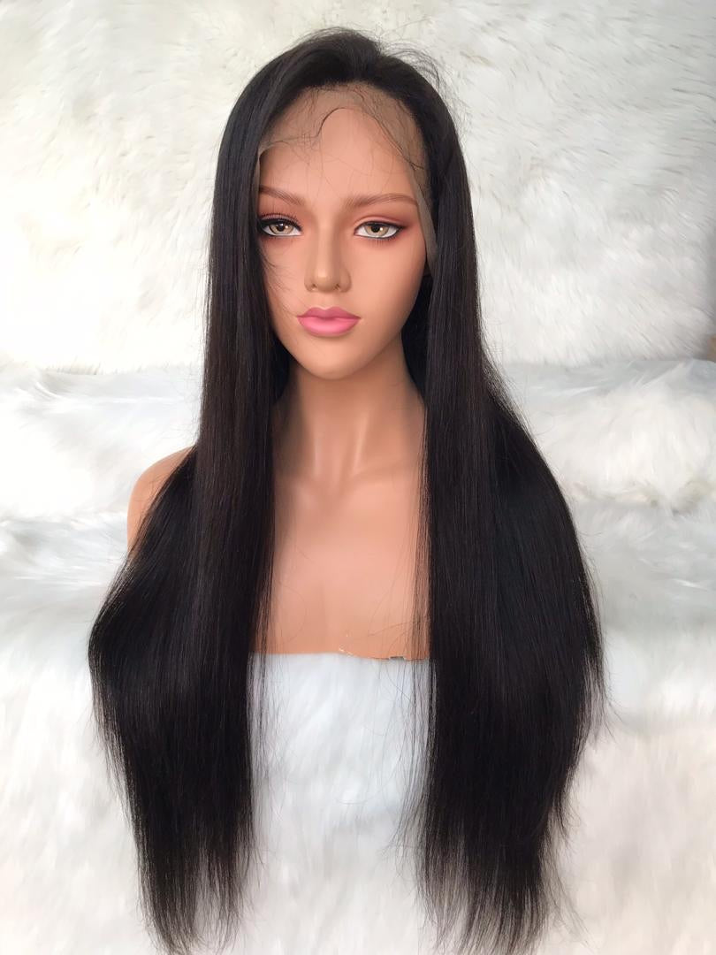 Straight lace front