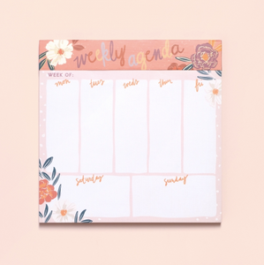 Floral Agenda & List Pad - The Dallas Gordon Collection