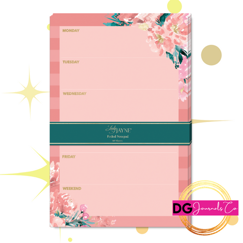 Floral and Foil Notepad - The Dallas Gordon Collection