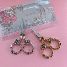 Load image into Gallery viewer, Vintage Lady - Mini Floral Craft Scissors - The Dallas Gordon Collection