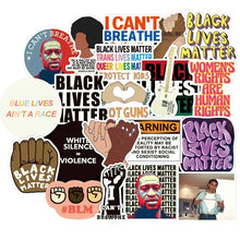 Load image into Gallery viewer, Black Lives Matter - Craft Planner Stationery Sticker Set of 50 - The Dallas Gordon Collection
