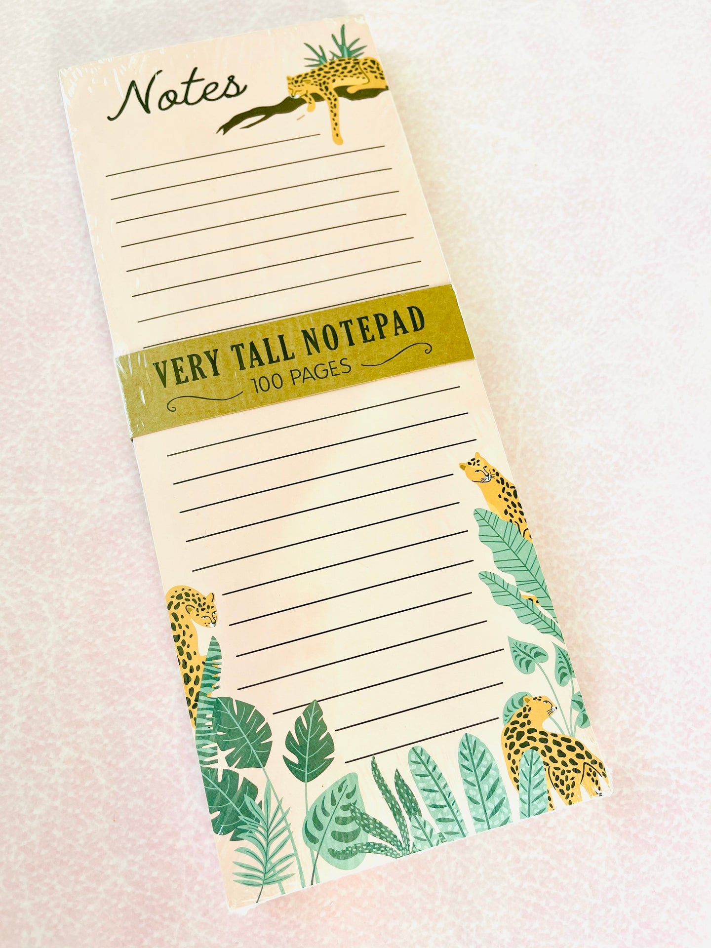 Cheetah Tall Notepad - The Dallas Gordon Collection