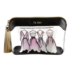 Ta Da! - Decorative Clear Travel Pouch - The Dallas Gordon Collection